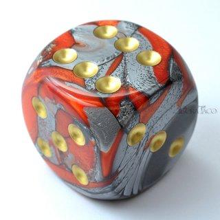50mm 6面サイコロ(ジェミニ/オレンジスチール&ゴールド) チェセックス/Chessex