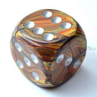 50mm 6面サイコロ(ラストラス/ゴールド&シルバー) チェセックス/Chessex
