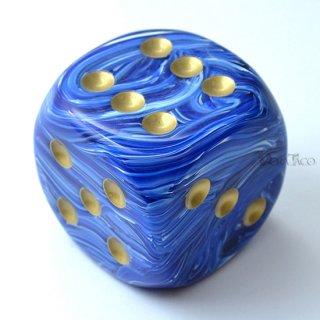 50mm 6面サイコロ(ボルテックス/ブルー&ゴールド) チェセックス/Chessex