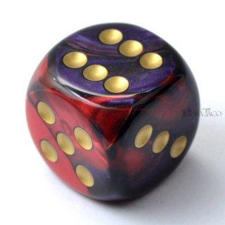 30mm 6面サイコロ(ジェミニ/パープルレッド&ゴールド) チェセックス/Chessex