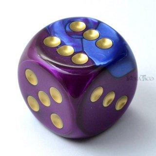 30mm 6面サイコロ(ジェミニ/ブルーパープル&ゴールド) チェセックス/Chessex