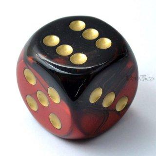 30mm 6面サイコロ(ジェミニ/ブラックレッド&ゴールド) チェセックス/Chessex