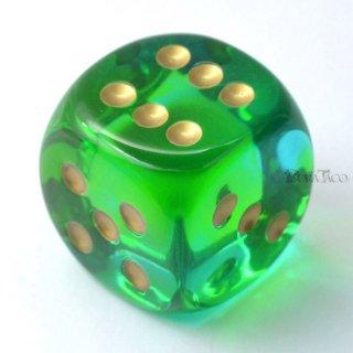 30mm 6面サイコロ(ジェミニ/グリーンテール&ゴールド) チェセックス/Chessex