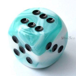 30mm 6面サイコロ(ジェミニ/テールホワイト&ブラック) チェセックス/Chessex