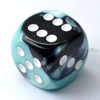 30mm 6面サイコロ(ジェミニ/ブラックシェル&ホワイト) チェセックス/Chessex