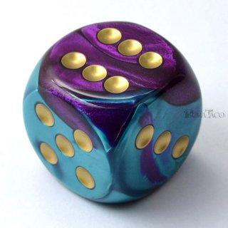 30mm 6面サイコロ(ジェミニ/パープルテール&ゴールド) チェセックス/Chessex