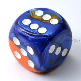 30mm 6面サイコロ(ジェミニ/ブルーオレンジ&ホワイト) チェセックス/Chessex