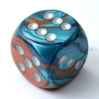 30mm 6面サイコロ(ジェミニ/コッパーテール&シルバー) チェセックス/Chessex