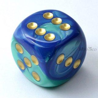 30mm 6面サイコロ(ジェミニ/ブルーテール&ゴールド) チェセックス/Chessex