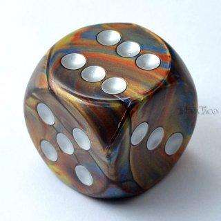 30mm 6面サイコロ(ラストラス/ゴールド&シルバー) チェセックス/Chessex