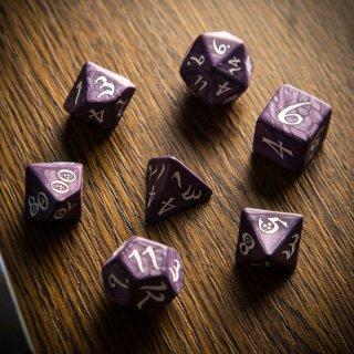 クラシックダイス【ラベンダー&ホワイト】Lavender & white Q-WORKSHOP