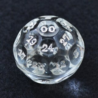 【32面ダイス:フルセット】1920年代頃 クリスタル フォーチュンテリング ボール