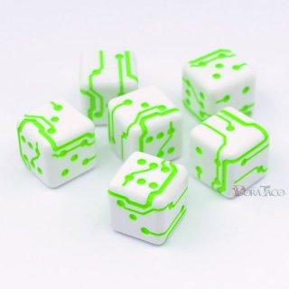 1個〜6個◆スペースローラーダイス MK2【グリーン/ホワイト】6個入り1セット SpaceRollerDice MK2