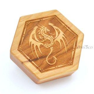 六角形ダイスボックス【飛竜/チェリー木材】