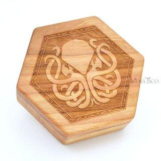 六角形ダイスボックス【クトゥルフ/チェリー木材】