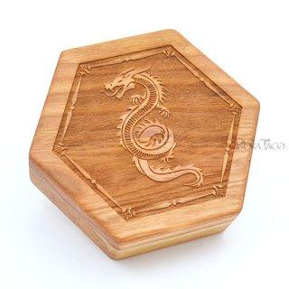 六角形ダイスボックス【サーペント/チェリー木材】