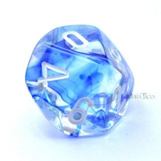 星雲【ダークブルー&ホワイト】10面サイコロ(ダイス)
