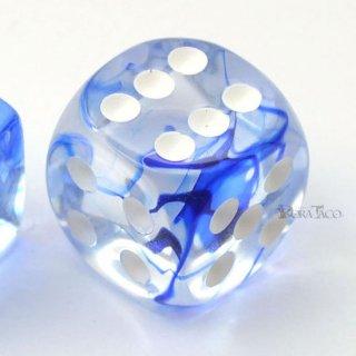ピプス◆星雲【ダークブルー&ホワイト】6面サイコロ(ダイス)