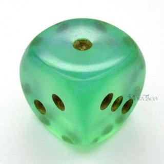 20mm◆6面サイコロ(オーロラ/ライトグリーン&ゴールド) チェセックス/Chessex