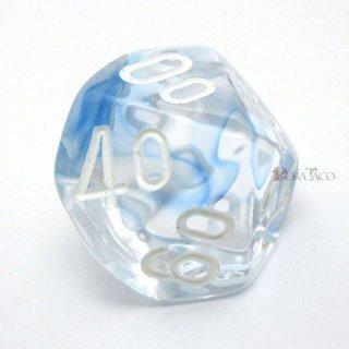 星雲【ダークブルー&ホワイト】テンズ10面サイコロ(ダイス)