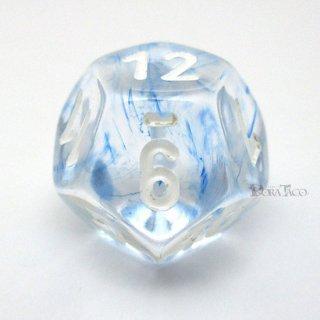 星雲【ダークブルー&ホワイト】12面サイコロ(ダイス)