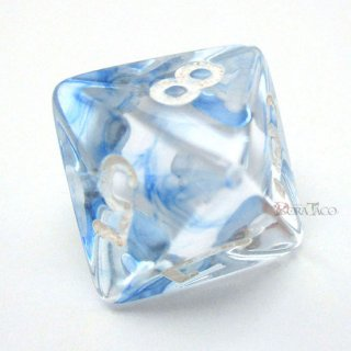 星雲【ダークブルー&ホワイト】8面サイコロ(ダイス) PN0816