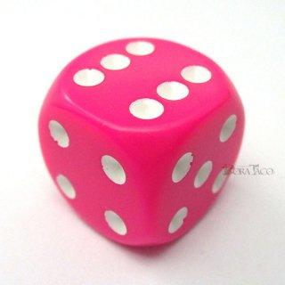 ベーシック【ピンク&ホワイト】6面サイコロ(ダイス)