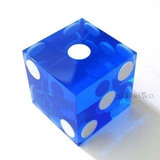 シリアル番号なし/カジノ用サイコロ 19mm【ブルー】