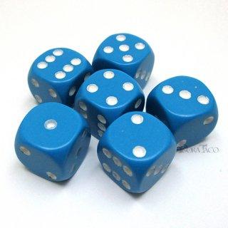 単品12mm◆ベーシック【ライトブルー&ホワイト】6面サイコロ(ダイス)