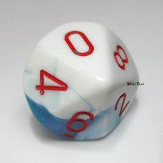 単品:チェセックス ジェミニ アストラルブルー・ホワイト&レッド 10面×1個