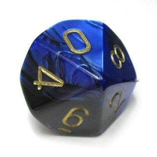 単品:チェセックス ジェミニ ブラック・ブルー&ゴールド 10面×1個
