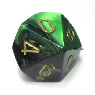 単品:チェセックス ジェミニ ブラック・グリーン&ゴールド 10面×1個