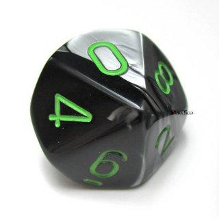 単品:チェセックス ジェミニ ブラック・グレー&グリーン 10面×1個
