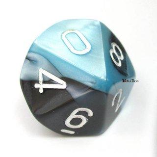 単品:チェセックス ジェミニ ブラック・シェル&ホワイト 10面×1個