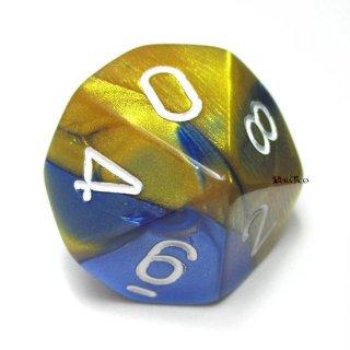 単品:チェセックス ジェミニ ブルー・ゴールド&ホワイト 10面×1個