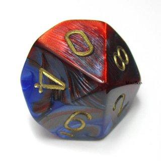 単品:チェセックス ジェミニ ブルー・レッド&ゴールド 10面×1個