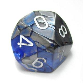 単品:チェセックス ジェミニ ブルー・スチール&ホワイト 10面×1個