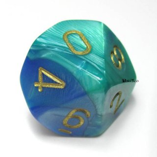 単品:チェセックス ジェミニ ブルー・テール&ゴールド 10面×1個