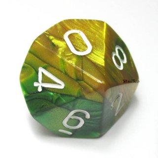 単品:チェセックス ジェミニ ゴールド・グリーン&ホワイト 10面×1個