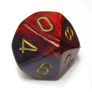 単品:チェセックス ジェミニ パープル・レッド&ゴールド 10面×1個