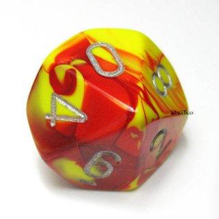 単品:チェセックス ジェミニ レッド・イエロー&シルバー 10面×1個