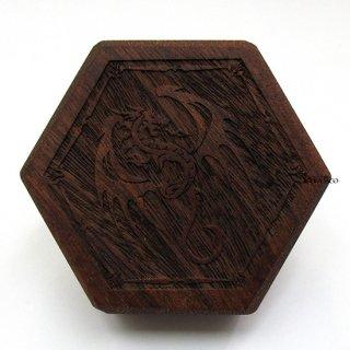 ミニダイス用◆六角形ダイスボックス【飛竜/マホガニー】