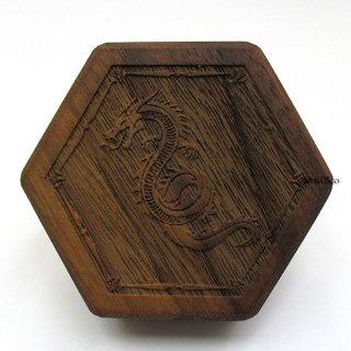 ミニダイス用◆六角形ダイスボックス【サーペント/ウォルナット(クルミの木)】