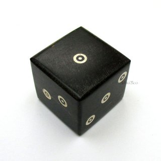 牛の角◆25mm6面ダイス単品