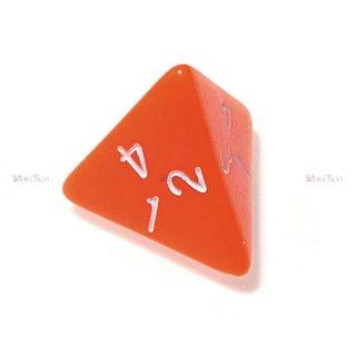 単品◆不透明【オレンジ】4面サイコロ(ダイス)