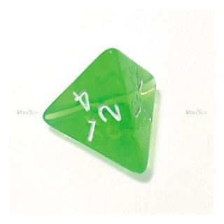 単品◆透明【緑】4面サイコロ(ダイス)