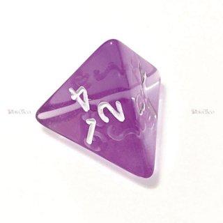 単品◆透明【紫】4面サイコロ(ダイス)