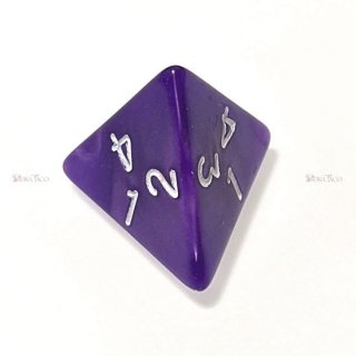 単品◆パール調【紫】4面サイコロ(ダイス)