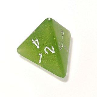 単品◆ラメ入り【緑】4面サイコロ(ダイス)