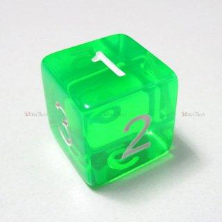 単品◆透明【緑】6面サイコロ(ダイス)